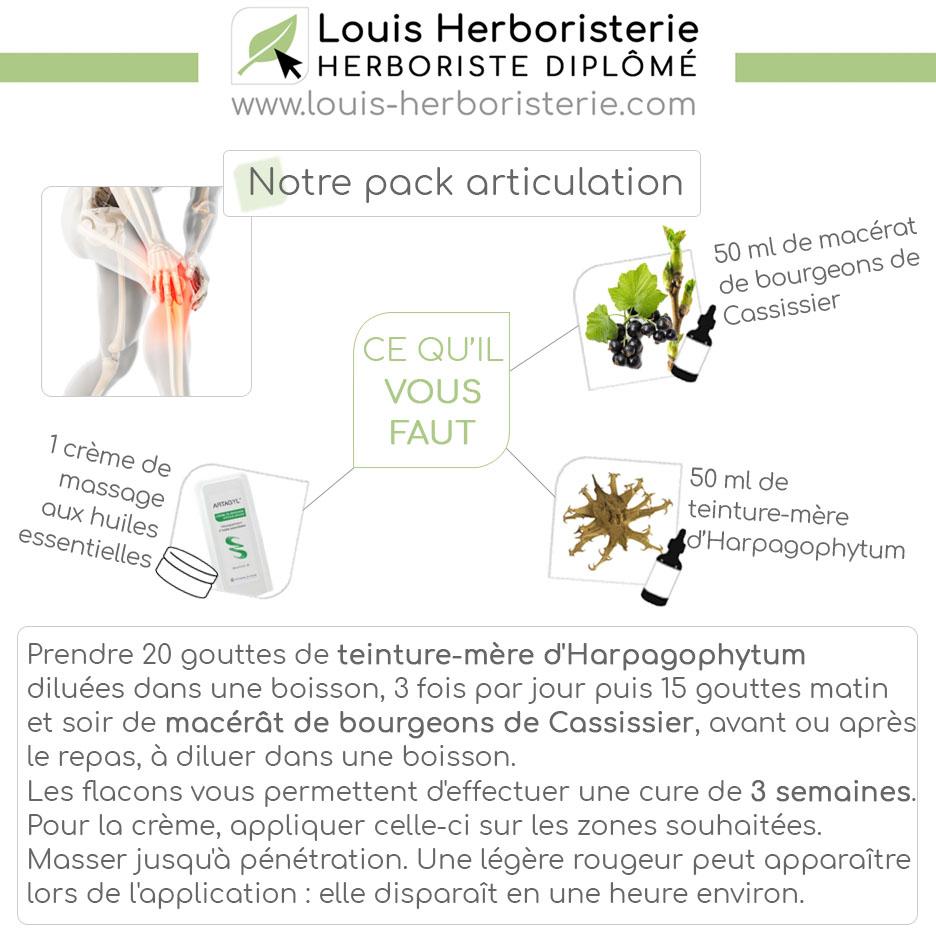 Découvrez ma sélection de plantes réputées pour leurs actions bénéfiques sur les douleurs articulaires et musculaires grâce à ce pack exclusif.