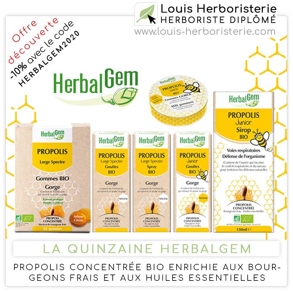 La Propolis concentrée Bio d'Herbalgem
