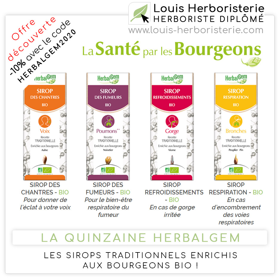Les sirops enrichis aux bourgeons Bio de Herbalgem