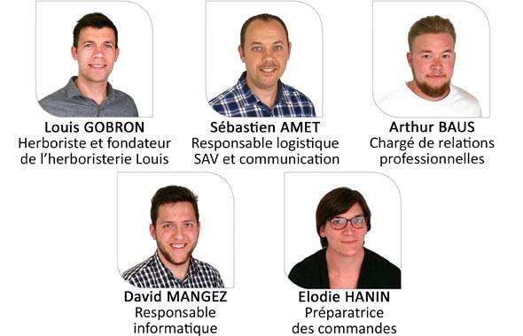 L'équipe de l'herboristerie Louis