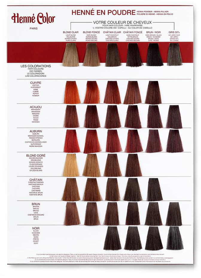 coloration blond dor henn en poudre 100g henn color - Tableau Coloration Cheveux